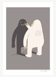Funny #doodle illustratie: happy #shadow