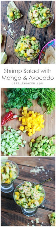 Delicious salad with fresh sweet mango, crispy cucumber, and creamy avocado | littlebroken.com @littlebroken