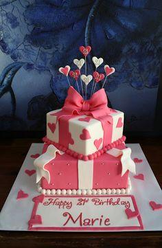 Sandy's Cakes: Marie 21st Present Cake