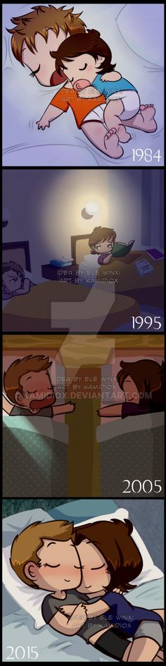 """Paid comm done for my great great friend , based in this prompt: """"In John Winchester's journal he mentions the fact that as kids Sam and Dean slept in the same bed together ..."""