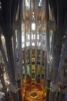 La Sagrada Familia. Antoni Gaudi. Barcelona, Spain. Gaudi started work on the project in 1883. Building still under construction. (Est. completion 2026).26.