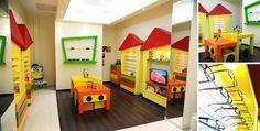 ótica infantil criativa e colorida