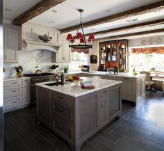 Grey Country Kitchen - traditional - kitchen - dc metro - JACK ROSEN CUSTOM KITCHENS