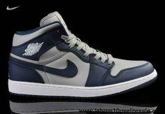 big sale 11247 f0893 Nike Air Jordan 1 I Homme Bleu foncé Gris, Prix