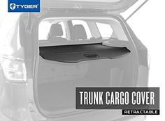 TYGER Trunk Cargo Cover for 20132016 FORD Escape Black color >>> You can find out more details at the link of the image.