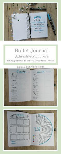 Bullet Journal ideas - Ideen für deine Jahresübersicht im Bullet Journal - Mit Mood, Book, Movie Tracker
