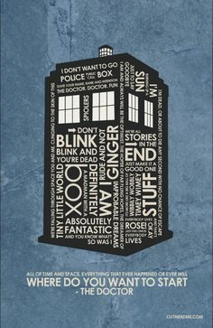 Dr. Who - Tardis Inspired Quote Poster #9th #10th #11th #tardis #drwho…
