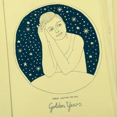 A girl from Belarus called Maria whom I met in Panjim, the capital of Goa. One night when we were having dinner together she took that pensive pose I liked so much that I had to take a picture to make a drawing of it later on. #sketchbook #sketch #sketching #drawing #draw #illustration #illu #art #stars #universe #travel #goa #india #panjim