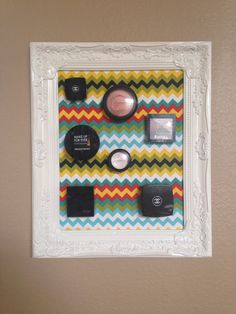 Chevron Make Up Frame by Downtownalyshop on Etsy https://www.etsy.com/listing/226315841/chevron-make-up-frame