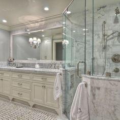 cream and gray bathroom