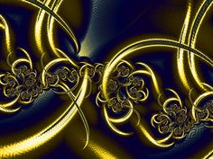 Fractal Art Wallpaper, Black And Gold