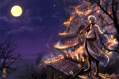 Anime Wallpaper 2400x1600 Gintama, Standing up, through the fire by Jeannette11