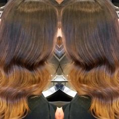 Warm winter balyage by Kerrie and super cute waves by Rachel.