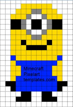 Minecraft Pixel Art Templates: Despicable Me Minion