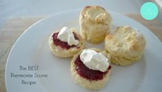 Four Ingredient Scones Thermomix Scones, Thermomix Desserts, Bellini Recipe, Sweets Cake, Tray Bakes, Baking Recipes, Bread Recipes, Sweet Recipes, Delicious Desserts