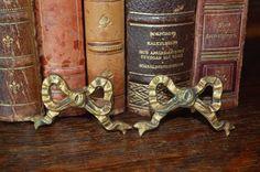 Antique Pair French Ormolu Bronze Bow Hardware by VintageFleaFinds, $32.00