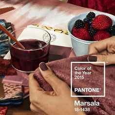 marsalas plush characteristics are enhanced when the color is applied to textured surfaces pantone