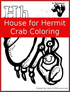 Free House for Hermit Crab Coloring Pages - 3Dinosaurs.com