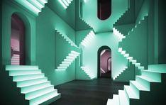 Surreal Stair Experiential Design by Balraj Bains on The Dots. Theatre Design, Stage Design, Set Design, Design Ideas, Warehouse Design, Experiential Marketing, Shop Interior Design, Interior Architecture, Conceptual Architecture