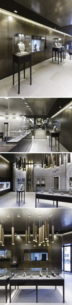 Showcase Masterwe have over 19 years experiences on commercial space design, and we specialize in display showcase, furniture manufacturing. Jewellery Shop Design, Jewellery Showroom, Jewellery Display, Jewelry Shop, Retail Interior Design, St Moritz, Luxury Store, Counter Design, Store Interiors