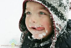 snowflakes that stay on nose and eyelashes