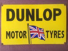Vintage Dunlop Motor Tyres Porcelain Enamel Sign   Collectibles, Advertising, Merchandise & Memorabilia   eBay!