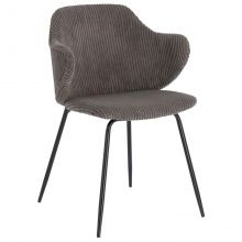 Krzesło Suanne ciemnoszare sztruks Outdoor Chairs, Outdoor Furniture, Outdoor Decor, Home Decor, Outfits, Products, Velvet, Contemporary Design, Decoration Home