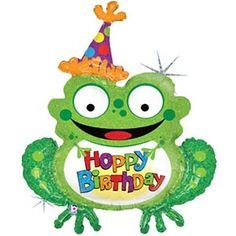 Afbeeldingsresultaat Voor Frog Balloon Birthday Greetings For Kids Happy Art