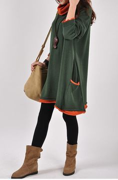 Casual Long Sleeved Knited Sweater Dress Knitwear  by deboy2000, $59.99
