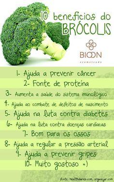 Os benefícios do brócolis.  Veja mais em http://www.comofazer.org