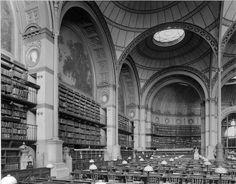(1860-1868) Salle principal bibliothèque national  - Henri Labrouste (1024×801)