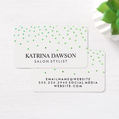 #hairstylist #businesscards - #Contemporary Green Glamour Pattern Business Card
