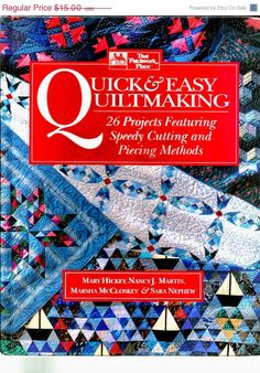 ON SALE Quick & Easy Quiltmaking  26 projects by GoodiesByJamie
