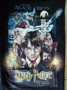 301f8ebf15a Details about Harry Potter And The Sorcerer's Stone Move Poster Adult T  Shirt. The Sorcerer's StoneHot TopicGraphic TeesHarry ...