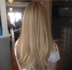 Dirty blonde highlights/balayage.