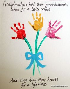 Meaningful Mama: Day #134 - Hand Print Flower Bouquet for Mother's Day