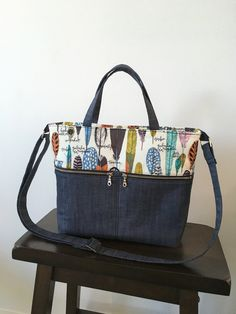 """* * * THIS IS A PDF PATTERN, not a finished product. Your pattern will be ready for an instant download once your payment is processed. * * * Create your own beautiful everyday purse using this PDF pattern. Dimensions: 11"""" wide x 10"""" tall x 3 ½"""" deep You will receive 16 pages of"""