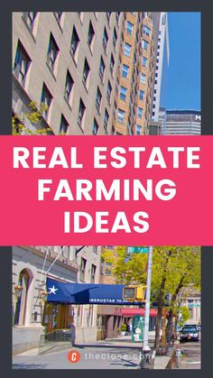 Best real estate farming ideas To DOMINATE any area. Start generating more leads and build your brand with this real estate farming guide. Click to read more! #realestate #realestatestrategy #realestatefarming #realestatemarketing #marketingideas #creativemarketing #realestateagent #theclose