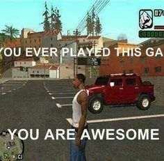 So old lol Video Game Logic, Video Games, Gta Logic, Fallout New Vegas, Fallout 3, Gta San Andreas, Gamer Humor, Rockstar Games, Celebrity Travel