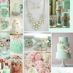 Mint green wedding ideas.