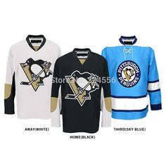 Find More Sports Jerseys Information about CHEAP CUSTOM pittsburgh penguins jersey  CHINA ice hockey jersey Home 75d284f3d