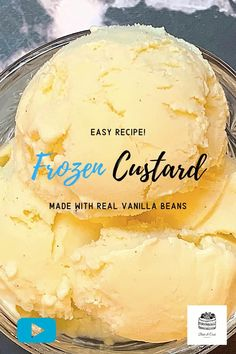 Ice Cream Desserts, Ice Cream Flavors, Frozen Desserts, Ice Cream Recipes, Frozen Treats, Just Desserts, Awesome Food, Good Food, Frozen Custard Recipes