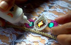 Rakhi2Step4 Rakhi Making, Handmade Rakhi, Rakhi Design, Baby Cartoon, Baby Socks, Rakhi 2015, Making Ideas, Beaded Bracelets, Turquoise