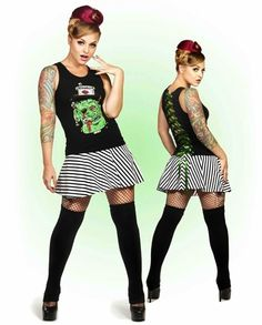 Zombie Monster Lace Up Corset Beater Punk Clothing