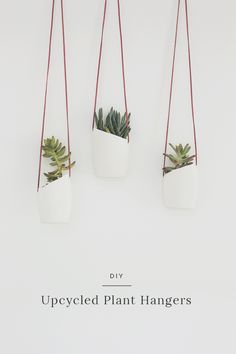 DIY upcycled plant hangers - almost makes perfect