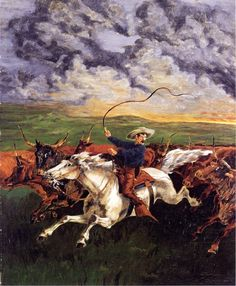 Prarie Fire : Frederic Remington : Museum Art Images : Museuma