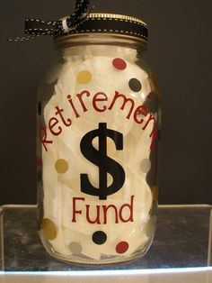 Retirement Fund Jar Coin Bank. $10.00, via Etsy.