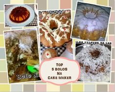Top 5 Bolos na Cake Maker Cake Makers, 1, Breakfast, How To Make Cake, Pink, Recipes, Morning Coffee