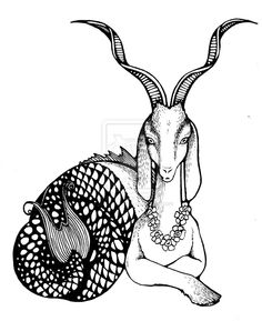 Capricorn Sea Goat that I desperately want as a tattoo!