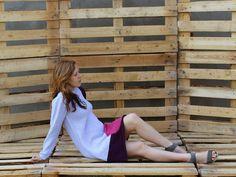 Sukienka+'Figura+geometryczna'+z+kropką+w+PAPAVERart+na+DaWanda.com